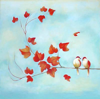 Love Birds - Sky Blue Poster