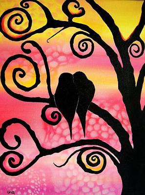Love Birds  Poster by Una  Miller