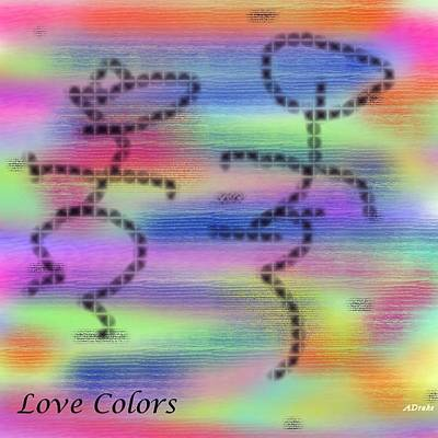 Poster featuring the digital art Love Colors by Alec Drake