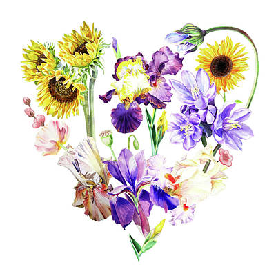 Love Flowers Poster