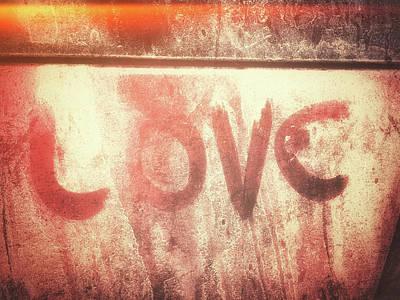 Love Graffiti Sign Poster by Tom Gowanlock