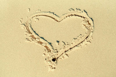Love Heart In The Sand Poster by Az Jackson