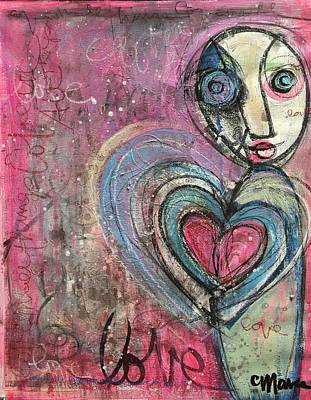 Poster featuring the painting Love In All Things by Laurie Maves ART