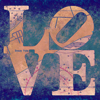 Love In Long Island V4 Poster by Brandi Fitzgerald