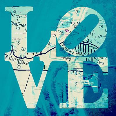 Love In Long Island V7 Poster by Brandi Fitzgerald