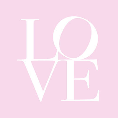 Love In Pink Poster by Michael Tompsett