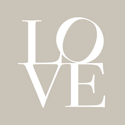 Love In Taupe Poster by Michael Tompsett