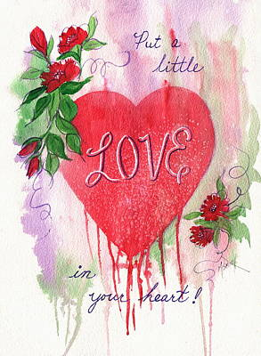 Poster featuring the painting Love In Your Heart by Marilyn Smith