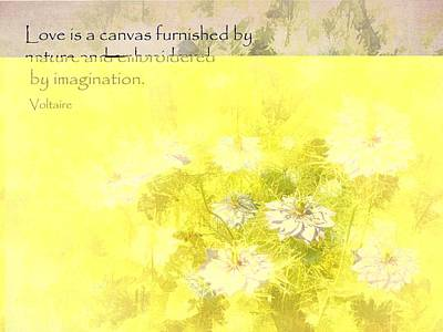 Love Is A Canvas - Nigella Damascena Poster by Julia Springer