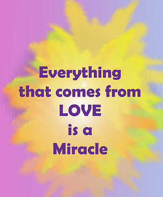 Love Is A Miracle Poster