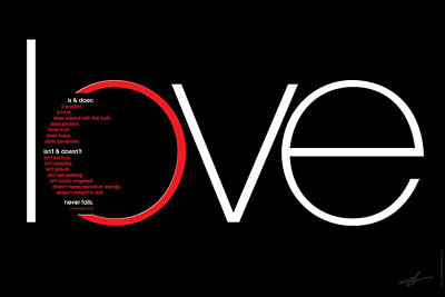 Love Is And Does Poster by Shevon Johnson