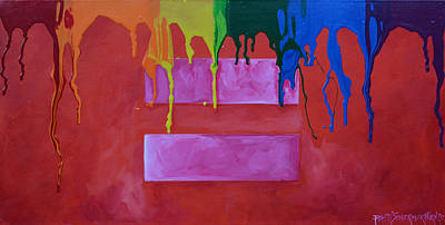 Poster featuring the painting Love Is Love by Patti Schermerhorn