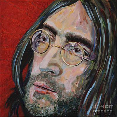 Love Is The Answer John Lennon Portrait 2 Poster by Robert Yaeger