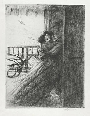 Poster featuring the drawing Love - La Femme Series by Paul-Albert Besnard