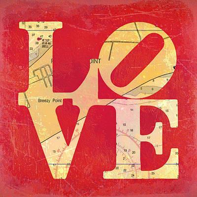 Love Long Island V6 Poster by Brandi Fitzgerald