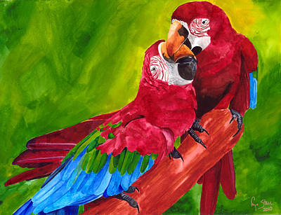 Love Macaws Poster