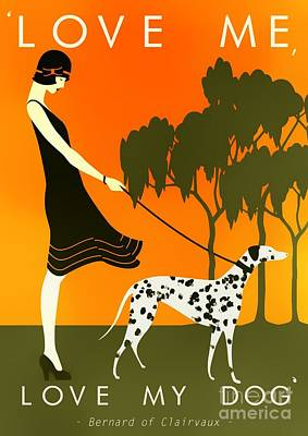 Love Me Love My Dog - 1920s Art Deco Poster Poster