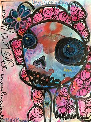 Poster featuring the painting Love Me Please by Laurie Maves ART