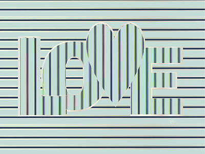 Love Mint Pearl Op Art Deco  Poster