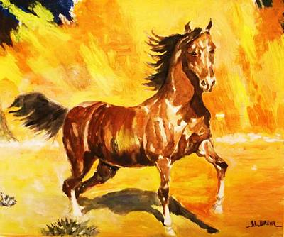 Lone Mustang Poster by Al Brown