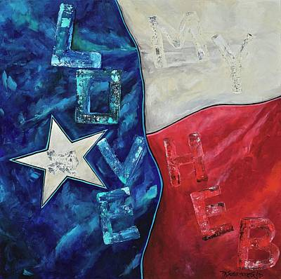 Poster featuring the painting Love My Heb by Patti Schermerhorn