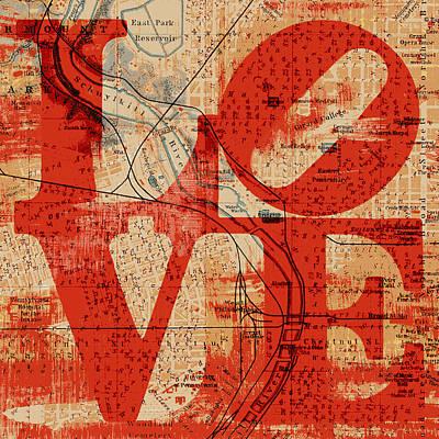 Philly Love V2 Poster by Brandi Fitzgerald
