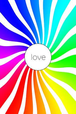 Love - Rainbow Swirl Poster