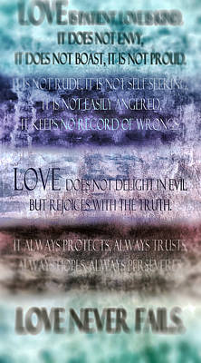 Poster featuring the digital art Love Rejoices With The Truth by Angelina Vick