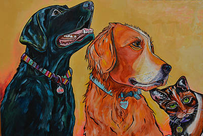 Poster featuring the painting Love Rescue Spay by Patti Schermerhorn