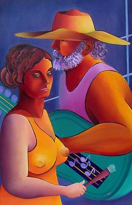 Poster featuring the painting Love Song by Karin Eisermann