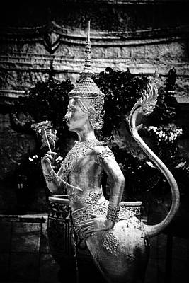 Love Statue At Grand Palace, Bangkok Poster by Zina Zinchik