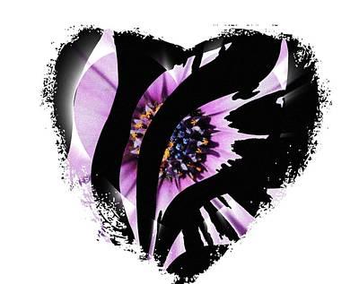 Love Swirl Poster by Amanda Eberly-Kudamik
