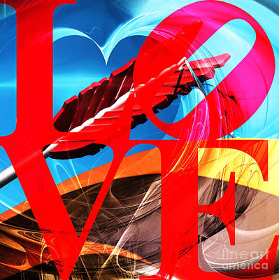 Poster featuring the photograph Love Swirls At The San Francisco Cupids Span Sculpture Dsc1819 by Wingsdomain Art and Photography