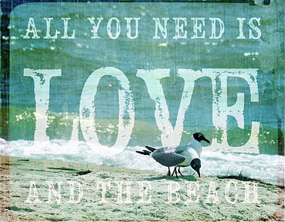 Poster featuring the photograph Love The Beach by Jan Amiss Photography