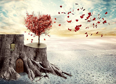 Love Tree Poster by Juli Scalzi