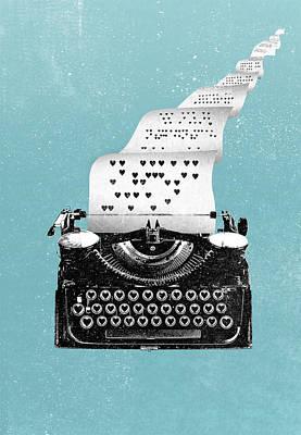 Love Typewriter Poster Poster