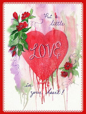 Poster featuring the painting Love Valentine by Marilyn Smith