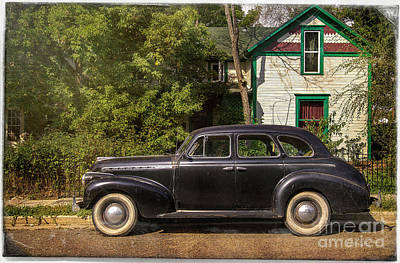 Poster featuring the photograph Loveland Black Auto by Craig J Satterlee