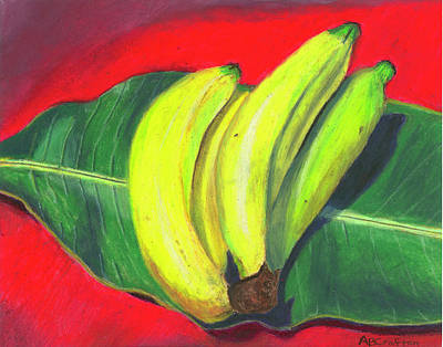Lovely Bunch Of Bananas Poster by Arlene Crafton