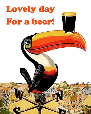 Lovely Day For A Beer Poster by Long Shot