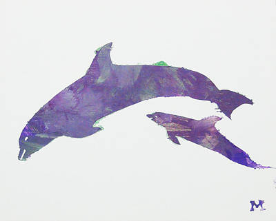 Poster featuring the painting Lovely Dolphins by Candace Shrope