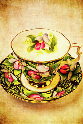 Lovely Floral Tea Cup Poster
