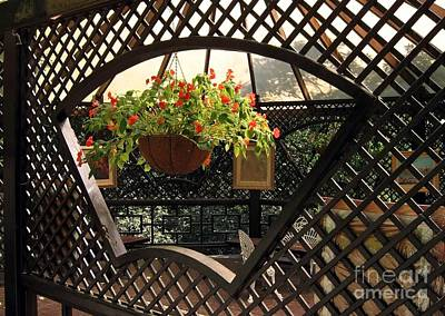 Lovely Garden Terrace Poster by Yali Shi