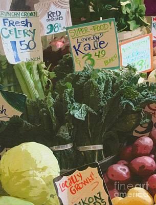 Lovely Kale Poster by Lydia L Kramer