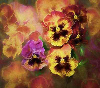 Lovely Spring Pansies Poster by Diane Schuster