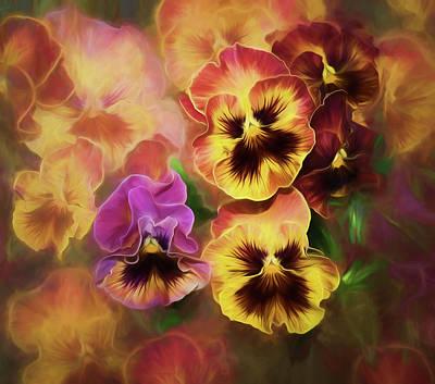 Lovely Spring Pansies Poster