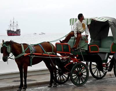 Lovely Transportation In Cozumel Poster