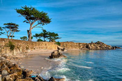 Lovers Point Pacific Grove Early Morning Poster by Connie Cooper-Edwards