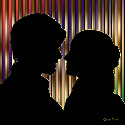 Poster featuring the digital art Loving Couple - Chuck Staley by Chuck Staley