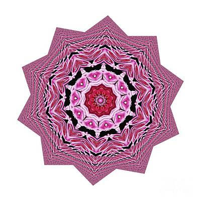 Loving Rose Mandala By Kaye Menner Poster